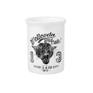 Wellcoda Apparel Wild Cat Team Sport Club Drink Pitchers