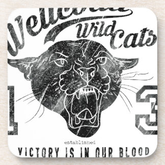 Wellcoda Apparel Wild Cats USA Sport Team Coaster