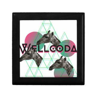 Wellcoda Apparel Wild Giraffe Animal Life Jewelry Box