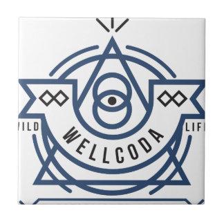 Wellcoda Apparel Wild Life Edinburgh UK Small Square Tile