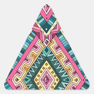 Wellcoda Apparel Wise Pattern Diamond Fun Triangle Sticker