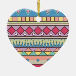 Wellcoda Asian Style Pattern Indian Look Ceramic Ornament