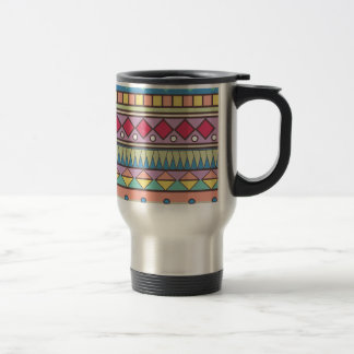 Wellcoda Asian Style Pattern Indian Look Travel Mug