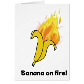 Wellcoda Banana On Fire Happy New Year Card