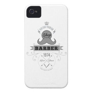 Wellcoda Barber Shop Moustache Aftershave iPhone 4 Cover
