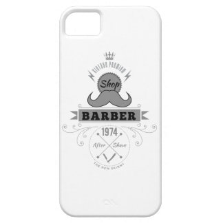 Wellcoda Barber Shop Moustache Aftershave iPhone SE/5/5s Case