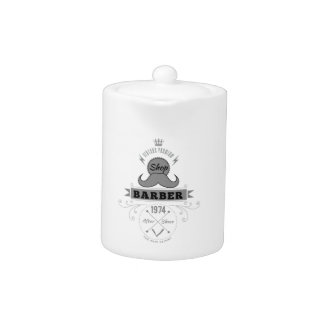 Wellcoda Barber Shop Moustache Aftershave Teapot