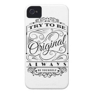 Wellcoda Be Original Yourself Motivation iPhone 4 Case-Mate Case