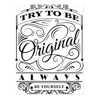 Wellcoda Be Original Yourself Motivation Postcard