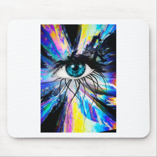 Wellcoda Beautiful Eye Art Pretty Face Mouse Pad
