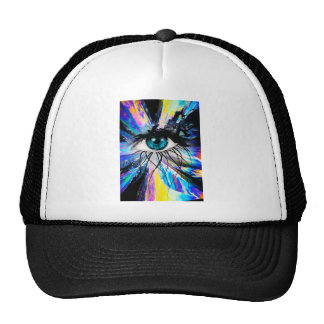 Wellcoda Beautiful Eye Art Pretty Face Trucker Hat