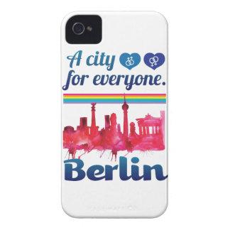 Wellcoda Berlin For Everyone Loving City iPhone 4 Case