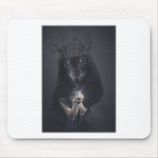 Wellcoda Big Bad Wolf Woman Evil Queen Mouse Pad