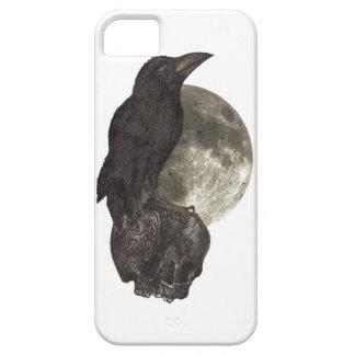 Wellcoda Black Crow On Skull Darkside iPhone SE/5/5s Case