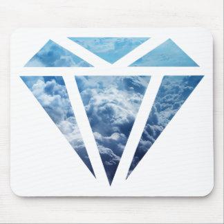 Wellcoda Blue Diamond Sky Cloud Jewel Love Mouse Pad