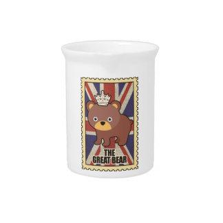 Wellcoda British Great Bear GB Identity Drink Pitcher