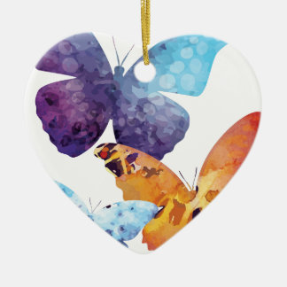 Wellcoda Butterfly Nature Love Beauty Life Ceramic Ornament
