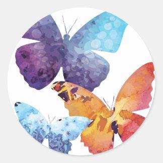 Wellcoda Butterfly Nature Love Beauty Life Classic Round Sticker