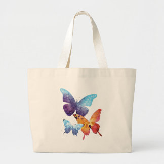 Wellcoda Butterfly Nature Love Beauty Life Large Tote Bag