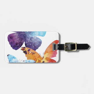 Wellcoda Butterfly Nature Love Beauty Life Luggage Tag