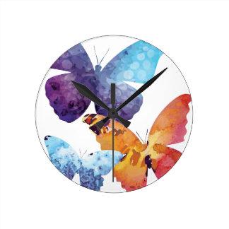 Wellcoda Butterfly Nature Love Beauty Life Round Clock