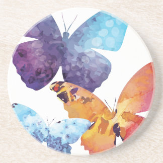 Wellcoda Butterfly Nature Love Beauty Life Sandstone Coaster