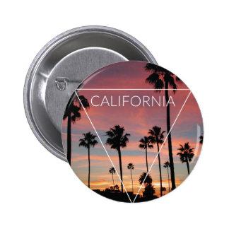 Wellcoda California Palm Beach Sun Spring Button