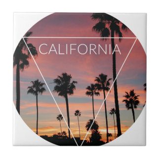 Wellcoda California Palm Beach Sun Spring Ceramic Tile