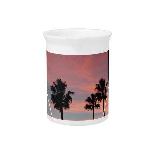 Wellcoda California Palm Beach Sun Spring Drink Pitchers