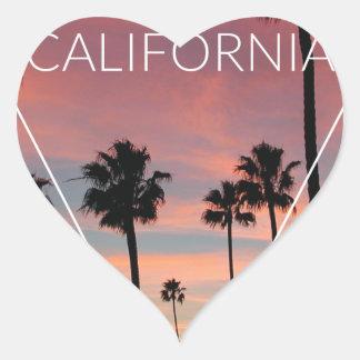Wellcoda California Palm Beach Sun Spring Heart Sticker