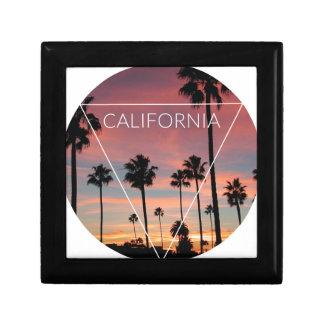 Wellcoda California Palm Beach Sun Spring Keepsake Box