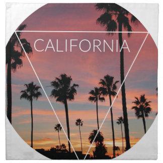 Wellcoda California Palm Beach Sun Spring Napkin