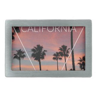 Wellcoda California Palm Beach Sun Spring Rectangular Belt Buckle