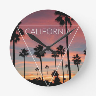 Wellcoda California Palm Beach Sun Spring Round Clock
