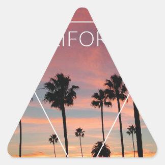 Wellcoda California Palm Beach Sun Spring Triangle Sticker