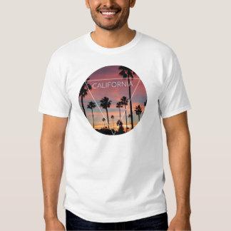 Wellcoda California Palm Beach Sun Spring Tee Shirt