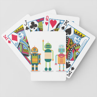 Wellcoda Cartoon Robot Party Kid Fun Life Bicycle Playing Cards