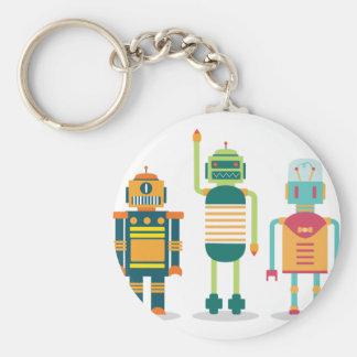 Wellcoda Cartoon Robot Party Kid Fun Life Keychain
