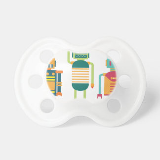 Wellcoda Cartoon Robot Party Kid Fun Life Pacifier