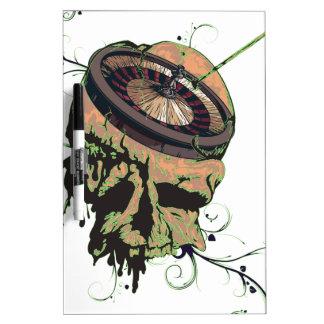 Wellcoda Casino Roulette Skull Gamble Bet Dry-Erase Board