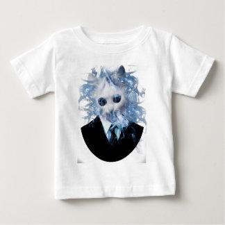 Wellcoda Cat Suit Smoke Weird Animal Pet Baby T-Shirt