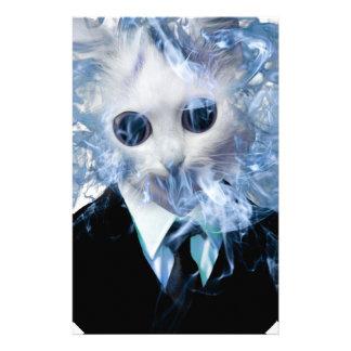 Wellcoda Cat Suit Smoke Weird Animal Pet Stationery