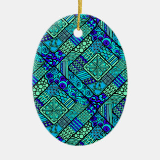 Wellcoda Chinese Style Pattern Crazy Vibe Ceramic Ornament