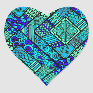 Wellcoda Chinese Style Pattern Crazy Vibe Heart Sticker