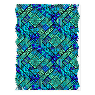 Wellcoda Chinese Style Pattern Crazy Vibe Postcard