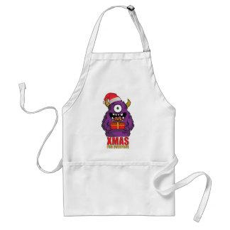 Wellcoda Christmas Monster One Eyed Freak Adult Apron