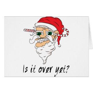 Wellcoda Christmas Over Yet Evil Santa Card