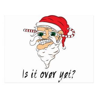 Wellcoda Christmas Over Yet Evil Santa Postcard
