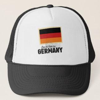 Wellcoda Classic Germany Flag World Map Trucker Hat