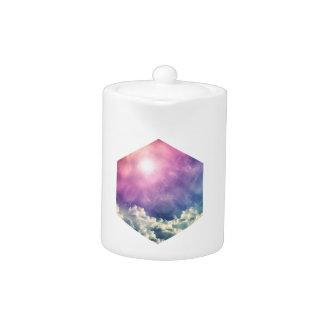 Wellcoda Cloud Sky Hexagon Love Shape Fun Teapot